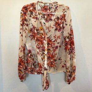 Kut from the Kloth Sheer Floral Blouse